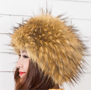 European and American new style ladies hats for autumn and winter, high-quality faux fur hats, fox fur warm hats