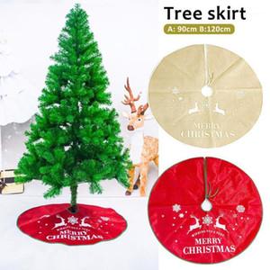 Nouveau cadeau de décoration de Noël de haute qualité Beau Tablier d'arbre de Noël Tree Jupe Support cadeau en gros1