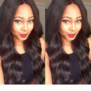 바디 웨이브 실크베이스 레이스 프론트 인간의 머리 가발 Pre Plucked Brazilian Remy Hair Glueless Silk Top Lace Front Wigs