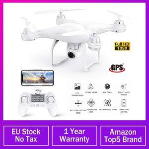 Pensico T25 GPS Drone WiFi FPV RC Dron con fotocamera 1080P Videocamera dal vivo Auto Ritorno Auto Home Altitudine Hold Seguimi 9-Axis Quadcopter 201105