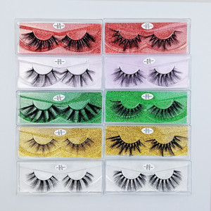 10 styles Faux 3D Mink Eyelashes Natural False Eyelashes Makeup Mink Lashes Eyelash Extension High quality
