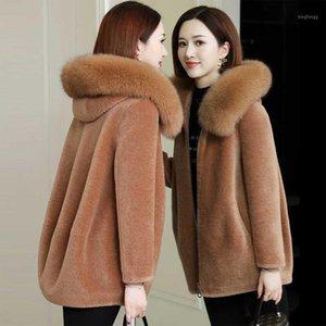 Zvaqs jaqueta feminina inverno 2020 mulher casacos artificiais estilo coreano grosso peludo parkas fêmea casacos chaqueta mujer tn1881