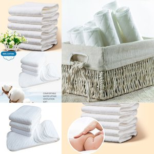 Top Top Top Reusable 2020 baby Diapers Cloth Diaper Inserts 1 piece 3 Layer Insert 100% Cotton Washable babies care Eco-friendly diaper 10pc