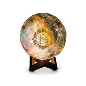 Bluetooth Quran Speaker Lamp with 7-Colors Light Remote Control Press Moonlight Lamp Support MP3 FM TF Card Radio