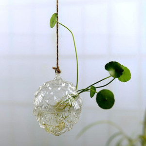 Hanging Glass Flowers Plant Vase Bottle Terrarium Container Home Garden Decors DIY
