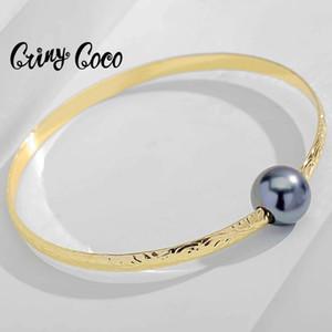 CRING COCO HAWAIIAN GOLD PALDTED Браслеты браслетов мода Полинезийский шарм черный жемчужный браслеты жемчужные украшения для женщин свадьба