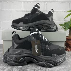 2021 Paris Casual Shoes Triple-S Triple-S Traper Sole Sole Dad Shoe Sneaker Black Green Crystal Fond Mens Supérieur Qualité Supérieure Chaussures