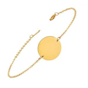 N7M7 Geometrische Runde Armband Armreifen Mode Gold Farbe Edelstahl Charm Armbänder Für Frauen Schmuck Braclets 20191