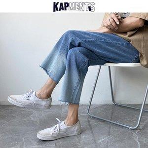 Kapments Gradient Harem Coreano Pantalones de jeans para hombre 2020 MENS Harajuku Baggy Blue Jeans Male Designer Streetwear Denim Joggers1