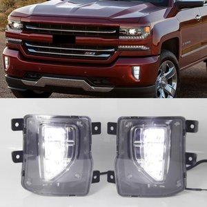 2 adet LED Gündüz Çalışan Işıklar 2016 2017 2018 DRL Röle Gündüz Foglamp Meclisi için Chevrolet Silverado 1500