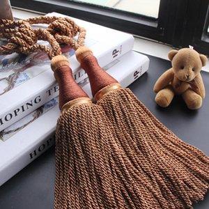 1 stück hängende kugel vorhang fangback quaste vorhang schnalle gardinge geflochtene bindung des fleischbacks fenster krawatte zurückhalter h jllwys