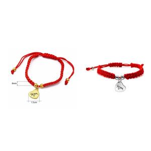 Braccialetto abbastanza fortunato ti amo mamma filettatura rossa Bella braccialetti gioielli mamma mamma giorno regalo famiglia benedica chic charm 56 k2