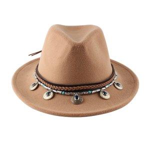 Fedora Hat For Women Men Wide Brim Wool Jazz Godfather Sombrero Caps 56-58CM 2020 new design