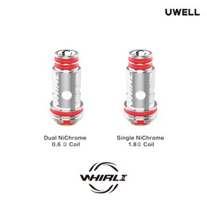 UWELL Whirl Coil Replacement 0.6ohm & 1.8ohm Head For E Cigarette Whirl II Atomizer  Whirl Tank Atomizer Core 2pcs Pack Authentic