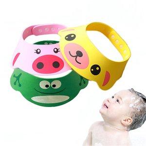 Baby Bath Cap Childern Wash Head Cap Outdoor Sunhat Adjustable Cutting Hair Shower Cap Wash Hair Visor Caps For Baby Care