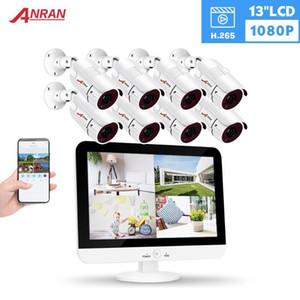 Anran 13 بوصة 8ch dvr نظام مراقبة فيديو AHD نظام الكاميرا التناظرية HD الأمن كاميرا كيت في الهواء الطلق 1080P IR ليلة الرؤية 1