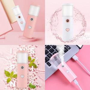 Cylindrique USB Face Dispositifs à la vapeur Cold Spray Avertisseur Instrument Maquillage Humidificateurs Love Coeur Dames Soins de la peau 6 5cl G2