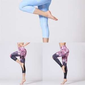 G1D EUOKA Sport Color Donne Yoga Solid Alto Maternità Yoga Pant Plus Pantaloni vita Pantaloni Gym Indossare leggings Elastico Fitness Lady Giornal Completo
