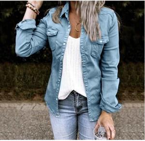 2021 Explosive European and American autumn new mid-length casual denim jacket women