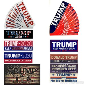 10 Styles Donald Trump 2020 Stickers 7.6*22.9cm Bumper Sticker Keep Make America Great Decal for Car Styling Vehicle Paster DHD217