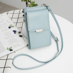 Designer-Women Fashion PU Crossbody Bags Multifunctional Mini Shoulder Bag Long Wallet Phone Card Bag Lady Messenger Bags Handbag XB247
