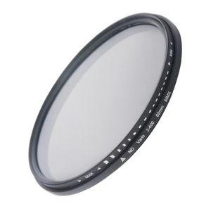 Filtro de variable ajustable de Densidad Neutral de 82 mm ND Filter ND 2 a ND 400 Filtro