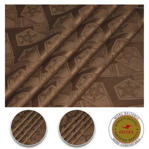 Chocolate Color Bazin Riche Top Quality 10 Yards bag Guinea Brocade Garment Fabric 100% Cotton Damask With Perfume Abaya Fabric1