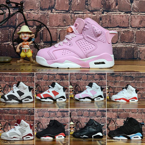 Venda quente Crianças 4 6 Tênis de Basquete Atacado Novo 1 Espaço Jam J6 Sneakers Crianças Esportes Running Girl Boy Trainers Sapatos 28 -35 2021