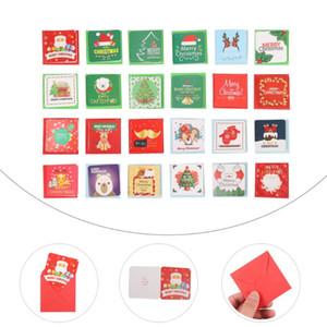 2 set / 48pcs regalo mensaje de felicitación adorable Lovely Holiday Tarjetas de felicitación de Navidad Tarjetas de Navidad para Año Nuevo