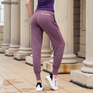 Wmuncc alto estiramiento Harem aptitud de las mujeres floja y transpirable pantalones de entrenamiento del basculador Deportes Yoga Pant 80% Nylon + Spandex 20
