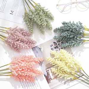 6 Small Fresh Simulation Hand-written Rice Seed Wheat Ear Bouquet Plastic Flower Wedding Home Decoration Accessories Vase
