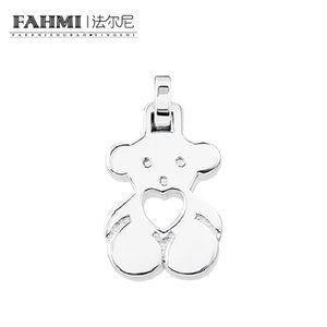 FAHMI 100% 925 sterling silver Fashion Youth Cute Casual Bear Pendant Original Charm Women Charming Gift Valentine's Day
