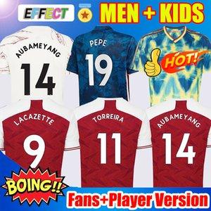 Maillots de football Arsenal 20 21 Maillots PEPE AUBAMEYANG LACAZETTE 2020 2021 Xhaka Özil Kit Uniformes de survêtement de football Version de joueur pour enfants