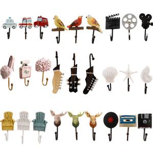 PCS / SET TAPE Cintres décoratifs Cinq Cuisine Résine Manteaux muraux montés pour Crochet Echarpe Accueil 3 Salle de bain Utilisez UTNQN