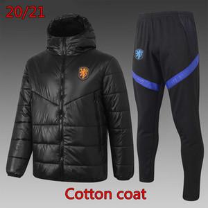 20 21 Ulusal Takım Aşağı Ceket NLD Hollanda Hoodie Kazak Sportwear Eşofman Futbol Pamuk Ceket Virgil Futbol Gömlek Hollanda Kış Giydirme