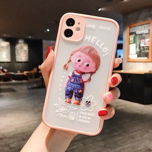 Cute Cartoon Braid Girl Mobile Fhx-tw Phone Case For Iphone 7 8 7 8plus Xr Xs Max 11pro Fine Hole Protection Phone Camera sqcHAI