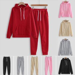 2 Piece Tracksuit Women Pink Hoodie Sweatshirt Female Sport Pullover Suits Womens Sport Suit Set Tracksuit For Women Sweatshirt
