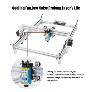 30x40cm 2 Axis 2500MW DIY CNC Laser Engraver Kits Wood Carving Engraving Cutting Machine Desktop Printer Logo Picture Marking