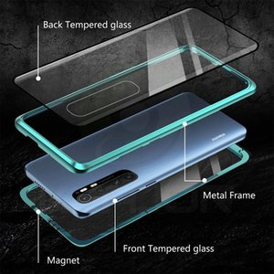 Magnetische Hülle für Xiaomi MI Note 10 Lite Case Dual Side Tempered Gla Hard Cover für MI Note 10 Lite Funda H Jlljme