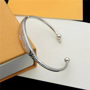 Hot New luxury stainless steel designer bracelet for womens chain Bracelets jewelry letter bangle With box