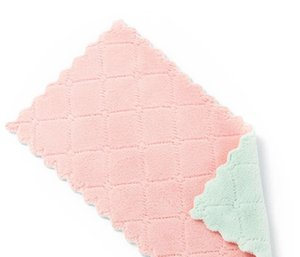 Absorbent dishcloths, thickened, tablecloths, towels kitchen does not stick to oil, do not shed hair, cleaning cloth, towel