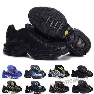 مجانا 2019 2020 أعلى جودة رجل tn الاحذية سلة رخيصة اسطوانية تنفس شبكة chaussures أوم نوير zapatillae tn الأحذية 36-46 S25
