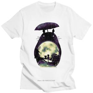 Novelety My Neighbor Totoro Tshirt 남성용 코튼 레저 티셔츠 짧은 소매 일본식 Anime 미야자키 하야오 팬 티셔츠