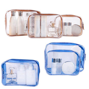 Travel Clear Makeup Bag Organizer Transparent Pvc Beautician Cosmetic Bags Beauty Toiletry Bag Make Up Pouch Wash Bags