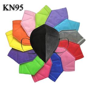 KN95 Maske FFP2 Gesichtsmaske Einwegmasken Heißer Verkauf Schwarz Vliesstaubdicht Winddicht Atemschutzstoff Schutzmund Gesichtsmask Auf Lager