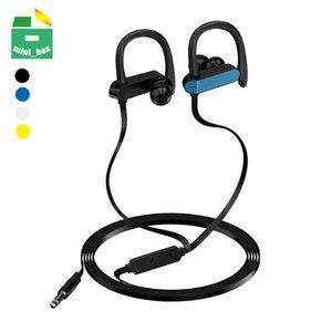 Sport Ear Hook Earphones 3.5mm Jack Stereo Earbuds Headphones With Microphone For iphone Xiaomi Huawei Samsung Smartphones