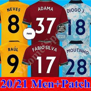 20 21 Adama Vitinha Home Soccer Jersey 2020 2021 Wolves Away Neto Neves Raul Camisetas de fútbol Podencia Diogo J 3RD Uniforme de fútbol