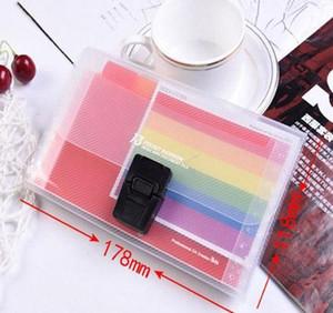 13 Grids A6 Document Bag Cute Rainbow Color Mini Bill Receipt File Bag Pouch Folder Organizer File Holde wmtIjs xhhair