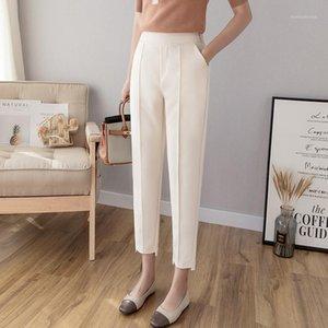 Pantalones de punto Harem Harem Pantalones Harem Pantalones sólidos Casual Winter Warm Carrot Pantalones KA11581