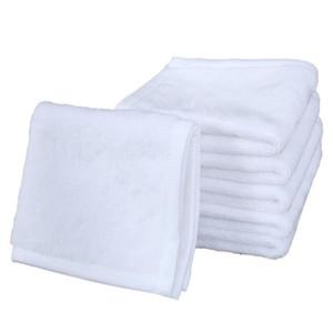 Sublimação Toalha de Algodão de Poliéster 30 * 30 cm Toalha em branco Branco Toalheiro Quadrado DIY Impressão Home Hotel Toalhas Suave mão toalhas GWD4168